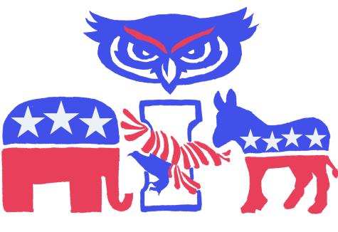 Leaders from each political organization at FAU reflect on what was an eventful election. Illustration by Emily Meilands.