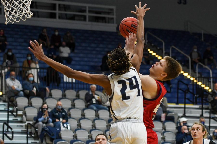 Karlis Silins led the Owls in scoring with 19 points. Photo Courtesy of FAU Athletics.
