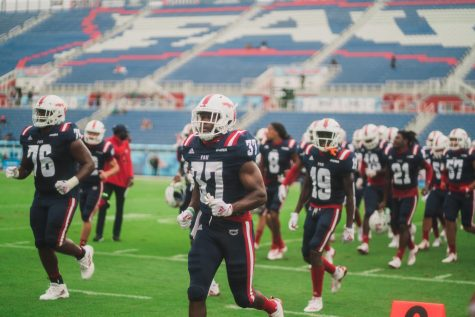 FAU will open its season in Gainesville against the Florida Gators on Sept. 4. Photo by Alex Liscio.