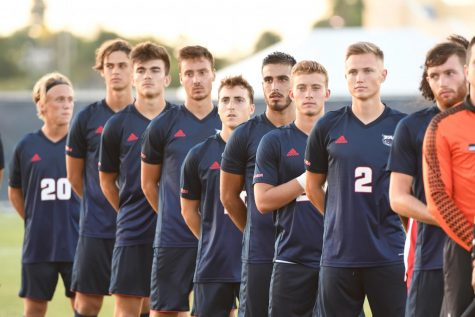 FAU men's soccer will begin its season hosting North Florida on Feb. 3 at 6 p.m. Photo courtesy of FAU Athletics.