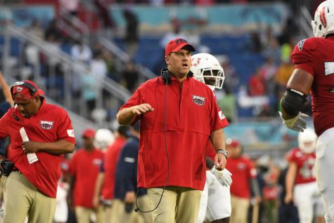 Jeff Norrid (pictured middle) leaves FAU after three seasons. Photo courtesy of FAU Athletics.