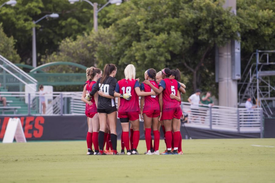 FAU women's soccer will open its season hosting Utah Valley on Feb. 4 at 7 p.m. Photo courtesy of FAU Athletics.
