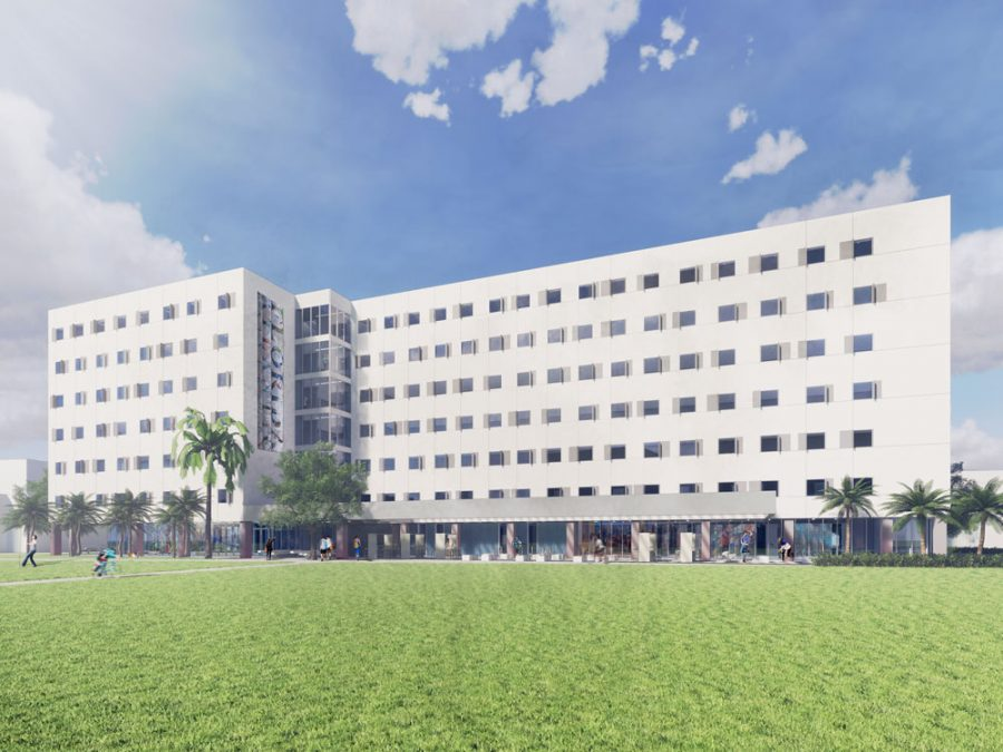 Rendering of the new residence hall. Photo courtesy of FAU.