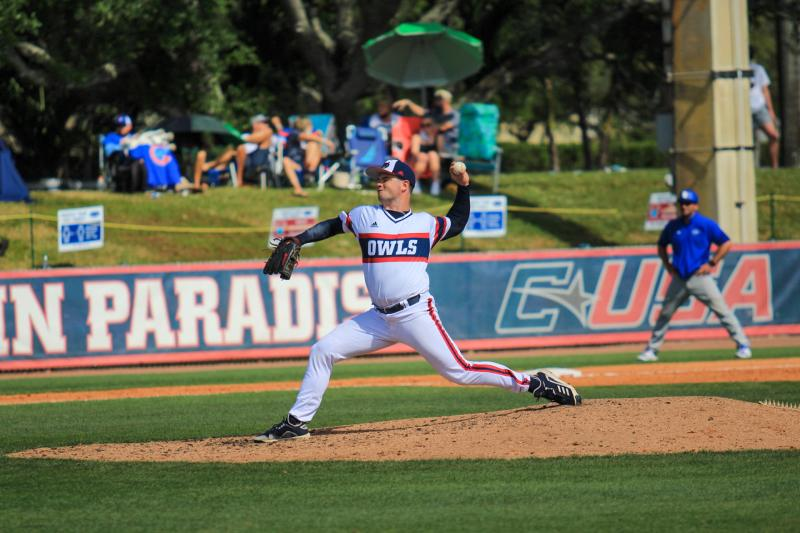 Matt+Sparling+throws+against+the+Sycamores+on+March+13%2C+2021.+Photo+by+Eston+Parker+III.