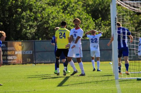 Ivan Mykhailenko (pictured #16) scored his second goal of the season with a penalty against the Kentucky Wildcats on Saturday. Photo by Eston Parker III.