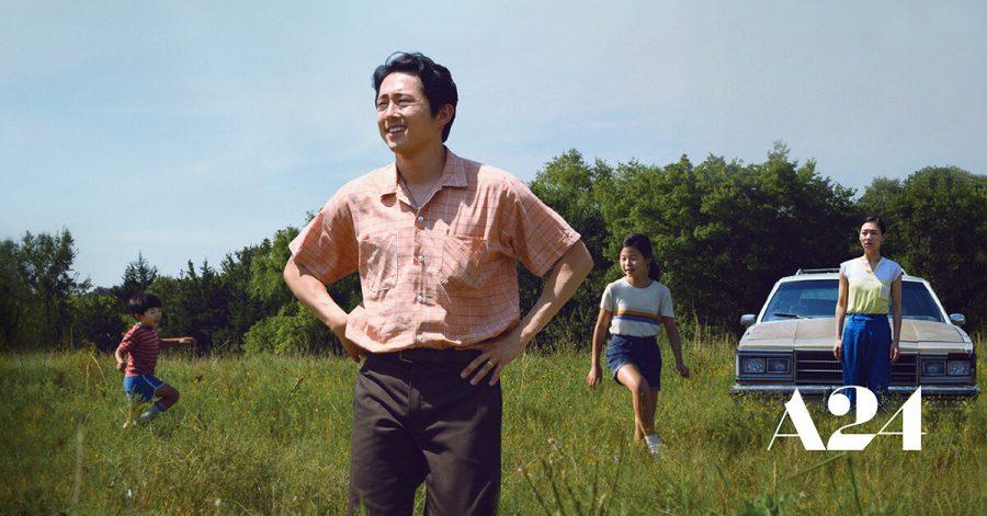 Alan S. Kim, Steven Yeun, Noel Cho, and Yeri Han in Minari. Photo: Josh Ethan Johnson/A24