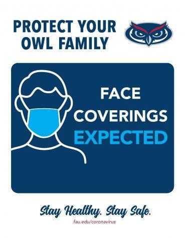 FAU COVID-19 safety flyer. Courtesy of FAU.