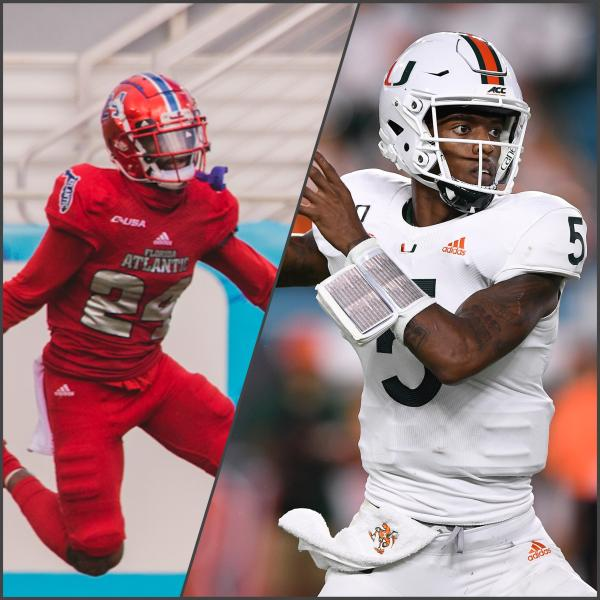 Zyon Gilbert (left) and NKosi Perry (right). Photos by Alex Liscio and courtesy of Mark Brown via Getty Images. Collage by Gillian Manning.