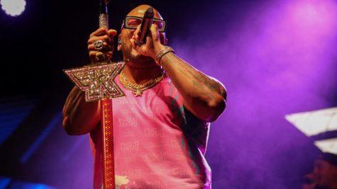 Flo Rida performing at Bonfire 2021. Photo by Eston Parker III