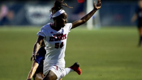Miracle Porter scored the game-winning goal against North Texas. Photo by Eston Parker III.
