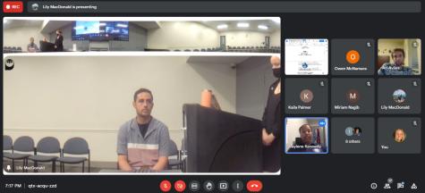 Screenshot frm the Oct. 11 Senate meeting