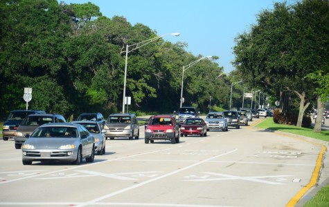 County Engineer George Webb told the UP that traffic delay at the Palmetto/Military intersection was 200 seconds, and widening Palmetto would decrease that to 145-150 seconds.  Photo by Christine Capozziello.