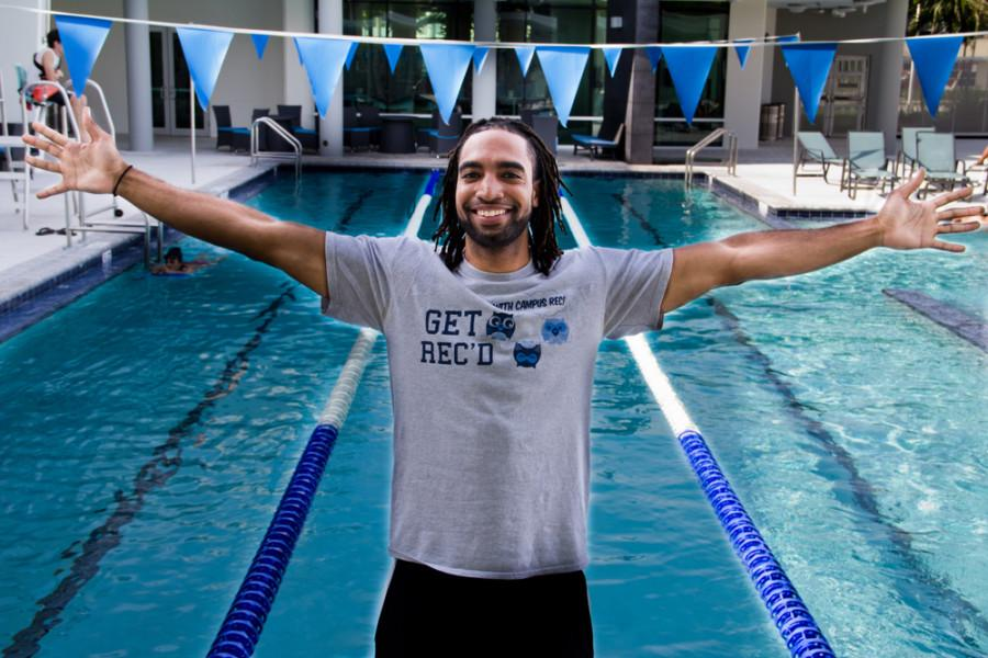 Christian Cabrera is the instructor for the beginners swimming class at FAU Campus Rec. His class begins Oct. 10 and will be every Monday and Wednesday from 8:00 to 9:00 a.m. Photo illustration by Abhi Sahni
