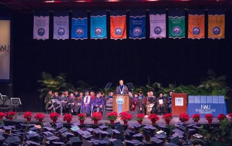 Group of graduating FAU students cross the stage
